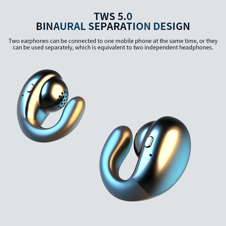 Blue tooth ear buds v5.0 wireless earphones tws bone conduction headset earphone & headphone with charging case for iphone