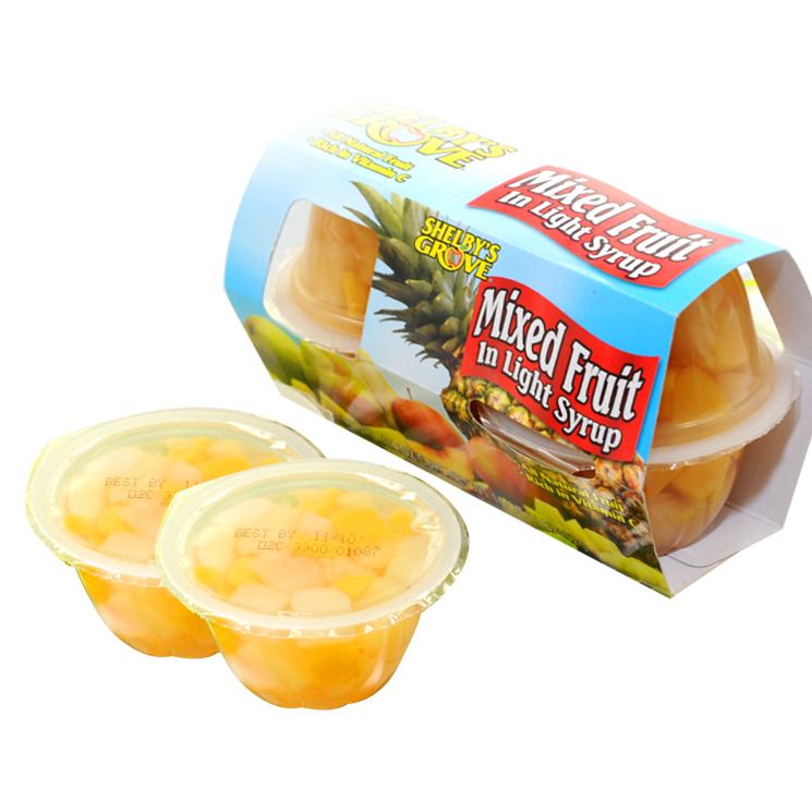 4.5OZ और 4OZ फल कप के साथ नारंगी, अनानास, नाशपाती, अच्छा स्वाद के साथ आड़ू