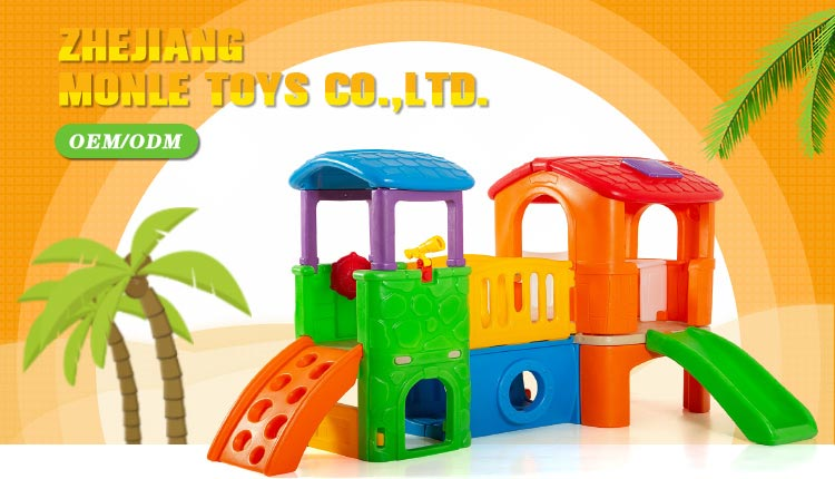 Playground design plastic folding toy baby park indoor kids care center slide