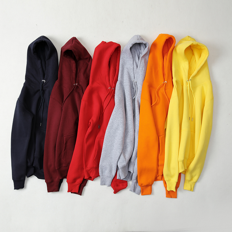 Men Custom Sweatshirt Blank High Quality Wholesale Bulk 500GSM Fleece Hoodie