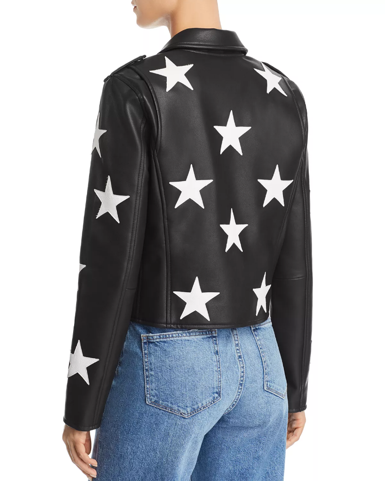 Spring 2020 New Star Faux Leather Moto Jacket