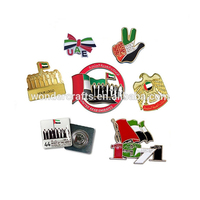 UAE national day cheap die cast zinc alloy soft lapel pin, Wholesale epoxy metal country flag custom enamel pin