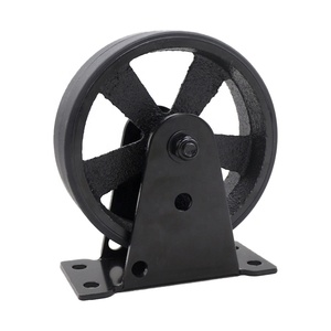 SS Industrial Wheels Vintage Iron Caster Coffee Table Vintage Casters with PU Polyurethane Tread Cover