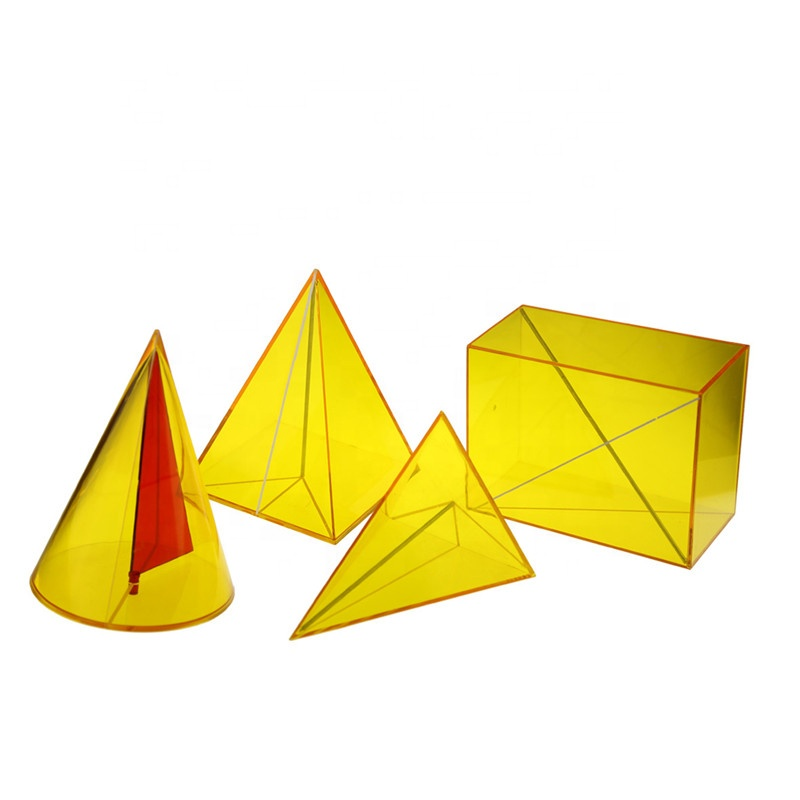 Advanced ABS Teaching Toy Geometrical features set for learning maths Geometry tools