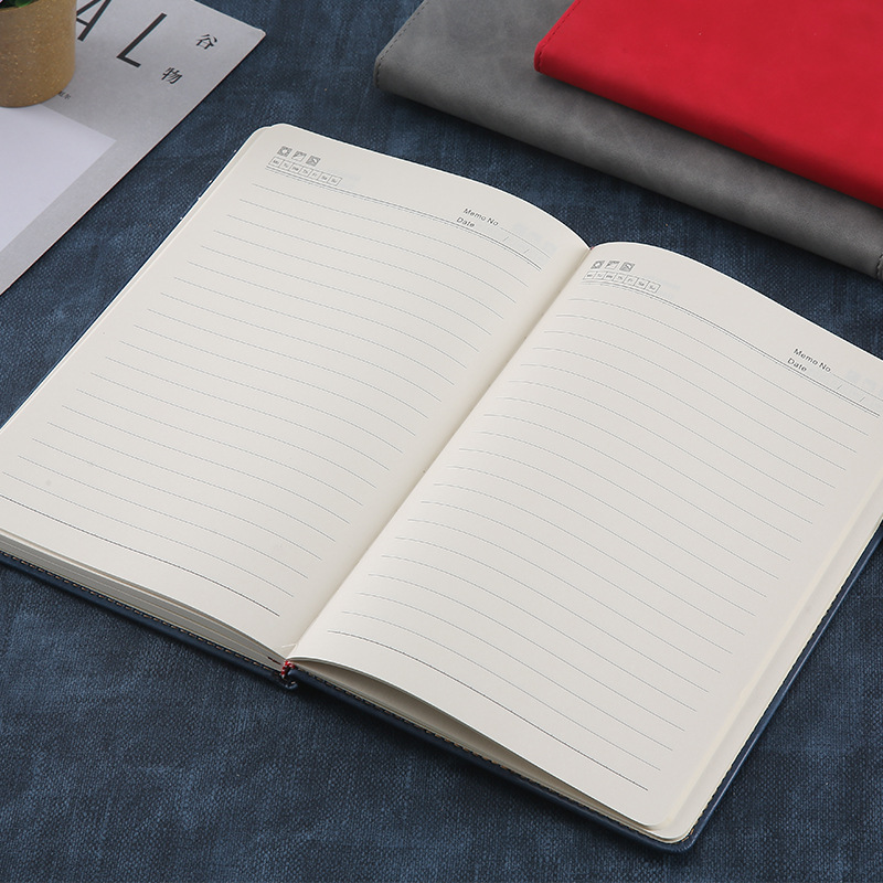 Simple Business Office PU Leather Notebook Creative Paperback A5 Note Diary Customization