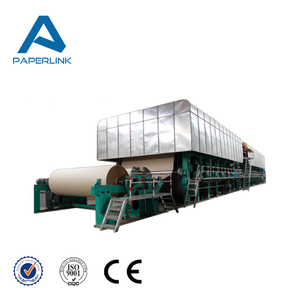 Carton cardboard recycling plant , small waste paper recycling machinery corrugated paper making machine