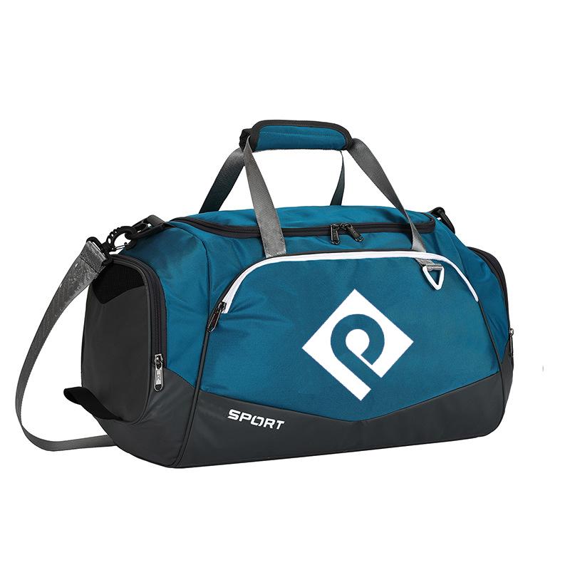 Gimnasio bolsa de deporte de moda de nuevo diseño impermeable de gran capacidad bolso de viaje de la noche a la mañana, bolsas de lona con zapatos compartimento