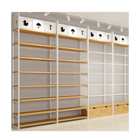 Fashion Wooden and Metal Daiso Display Stand Miniso Display Rack Store Shelf
