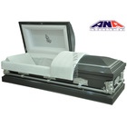 ANA funeral supplies manufacture wholesale burial 20 ga steel coffin casket