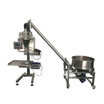 Ex factory price semi auto powder filling machine with weighing auger filler for spice milk powder dry powder