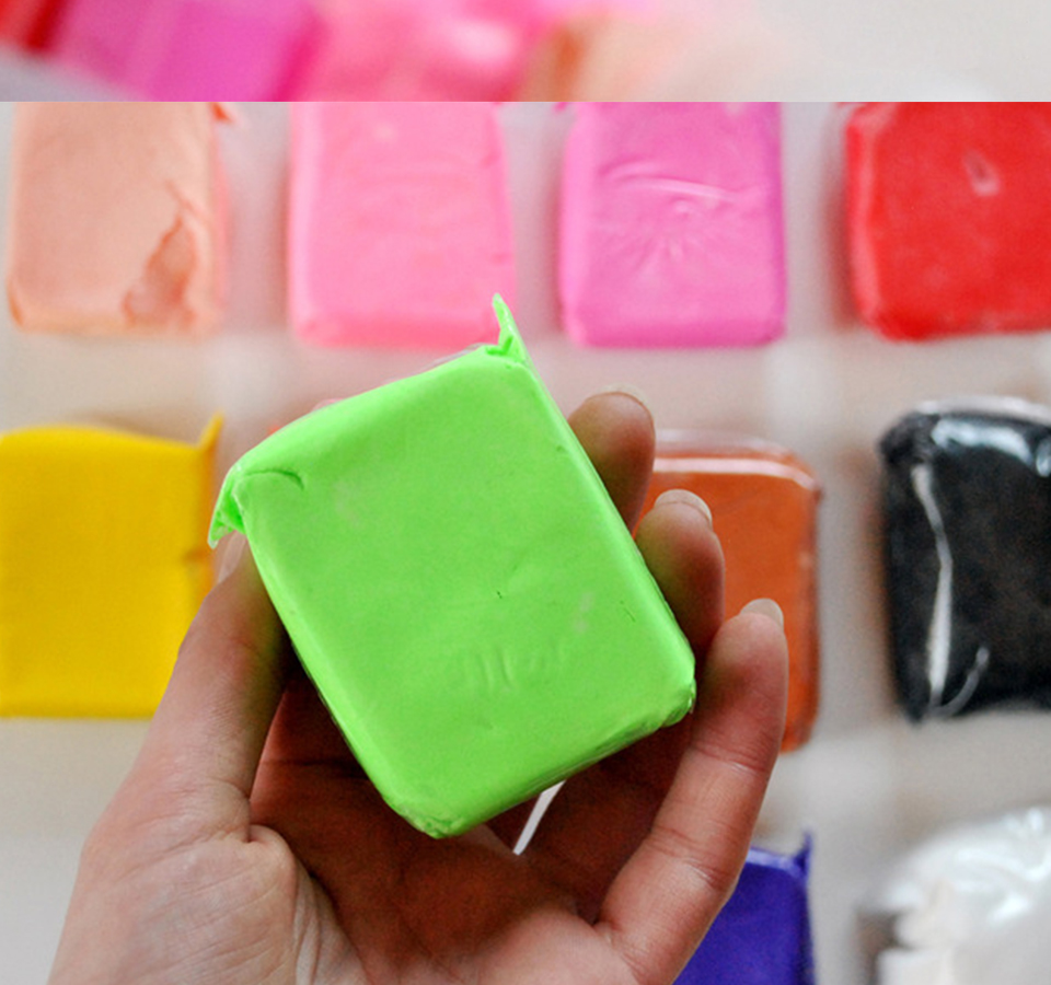 12Pcs/Lot Clay Polymer Air Dry Plasticine Toy 12Colors Super Light Plasticine Modeling Clay Kids Diy Learning Soft Clay