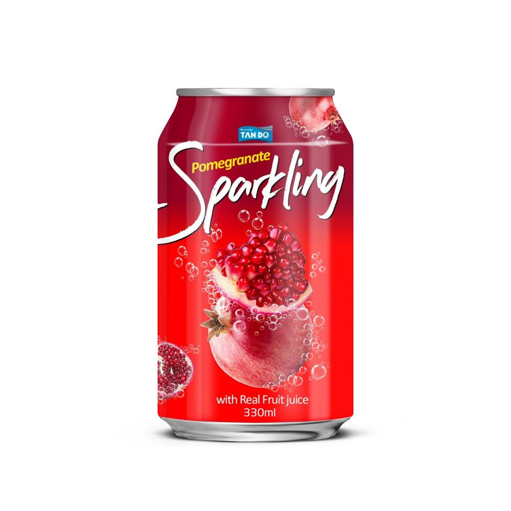 330ml private label canned sparkling water with pure pomegranate juice