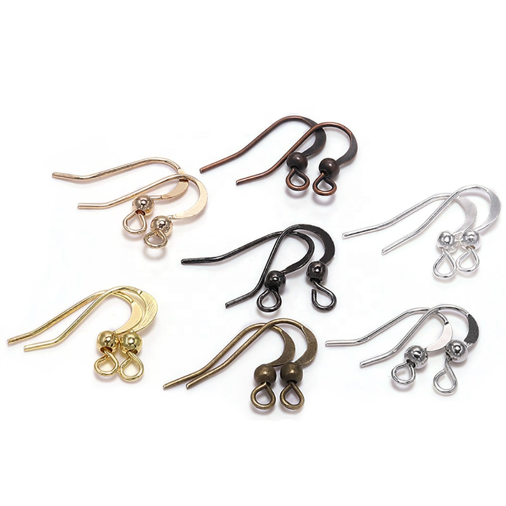 100Pcs 19*18mm <strong>Earring</strong> Components <strong>Hooks</strong> Twist Silver <strong>Gold</strong> Bronze Ear <strong>Hook</strong> Clasps <strong>Earring</strong> Wires Findings For DIY Jewelry Making