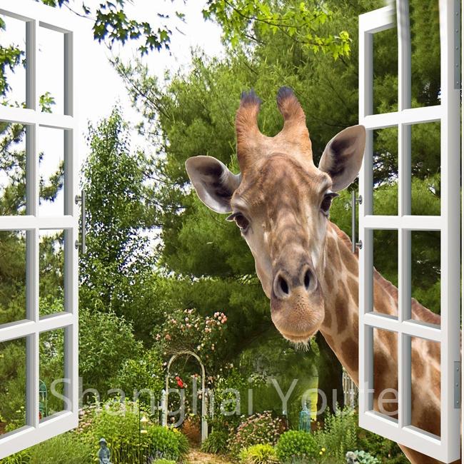 Giraffe Funny Window Die Cut Decal Sticker Vinyl Car Many Colors /& Sizes