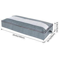 Large Comforters Bedding Organizer Under Bed Storage Bag With Carry Handles