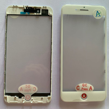 Touch Panel Front Outer Screen Glass bezel Repair parts Change Glass Cover OCA Frame Replacement Front Lens For Iphone