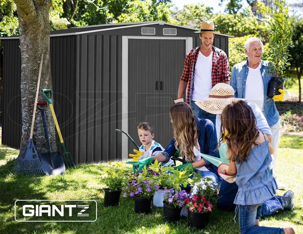 8x6ft outside tool storage garden shed