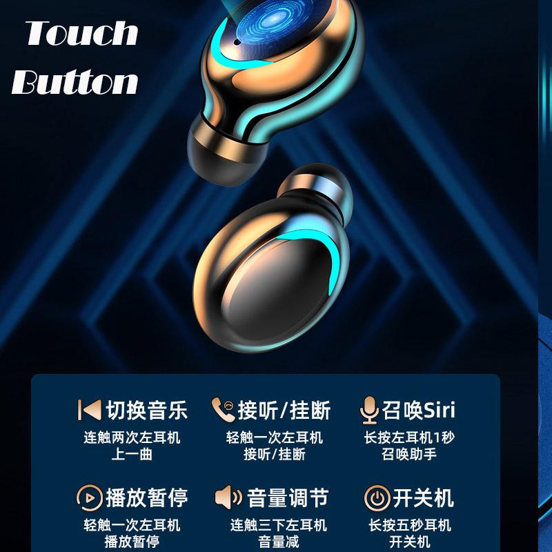 Auriculares Tws F9 Wireless Airbuds V50 Neckband Earphone Headphone Unlock Bluetooth Headset Branded Earbuds G05 Dacom