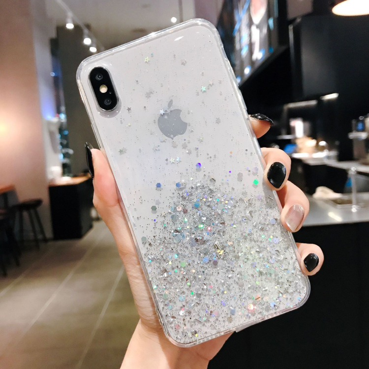 For iphone 7plus case 6 glitter phone mobile soft tpu silicone bling back cover etui pour telephone