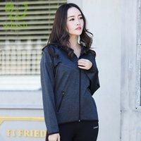 wholesale Winter high quality fashion Zip Up Active Wear Sweatshirt Hoodie Jacket With Zipper Pockets Sweatshirt for women