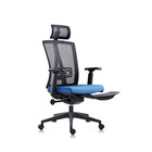 New design manager or boss executive ergonomic blue office chair swivel mesh office chair with flexible footrest