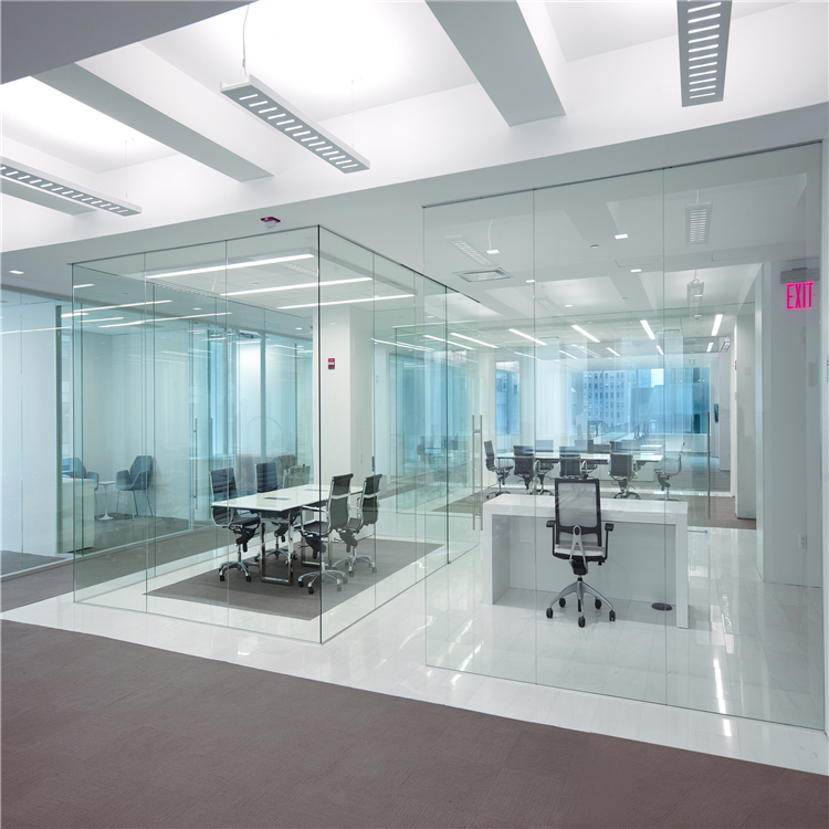 कार्यालय ग्लास मॉड्यूलर आधुनिक और सुरुचिपूर्ण पाले सेओढ़ लिया गिलास विभाजन दीवार