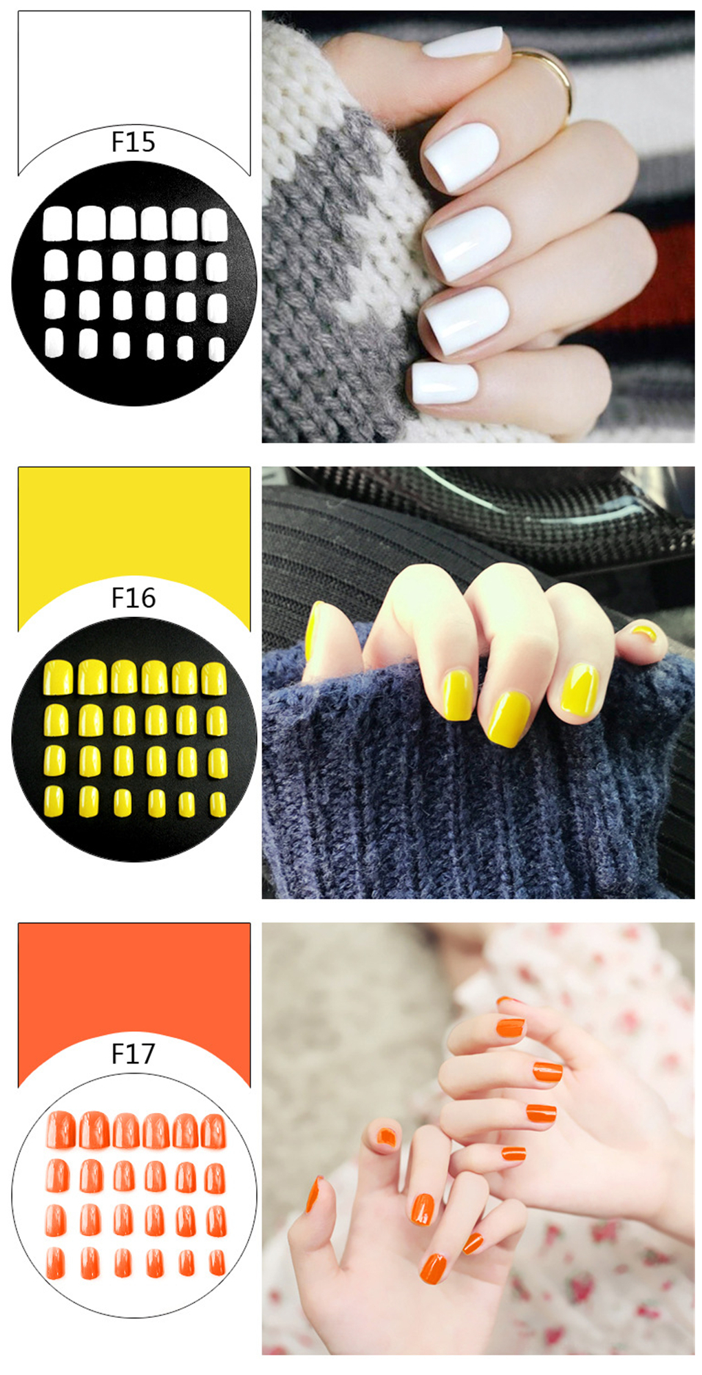 Wholesale Simple Art Eco-Friendly Professional Colorful  Nail Art Decoration 3d Nail Polish Sticker