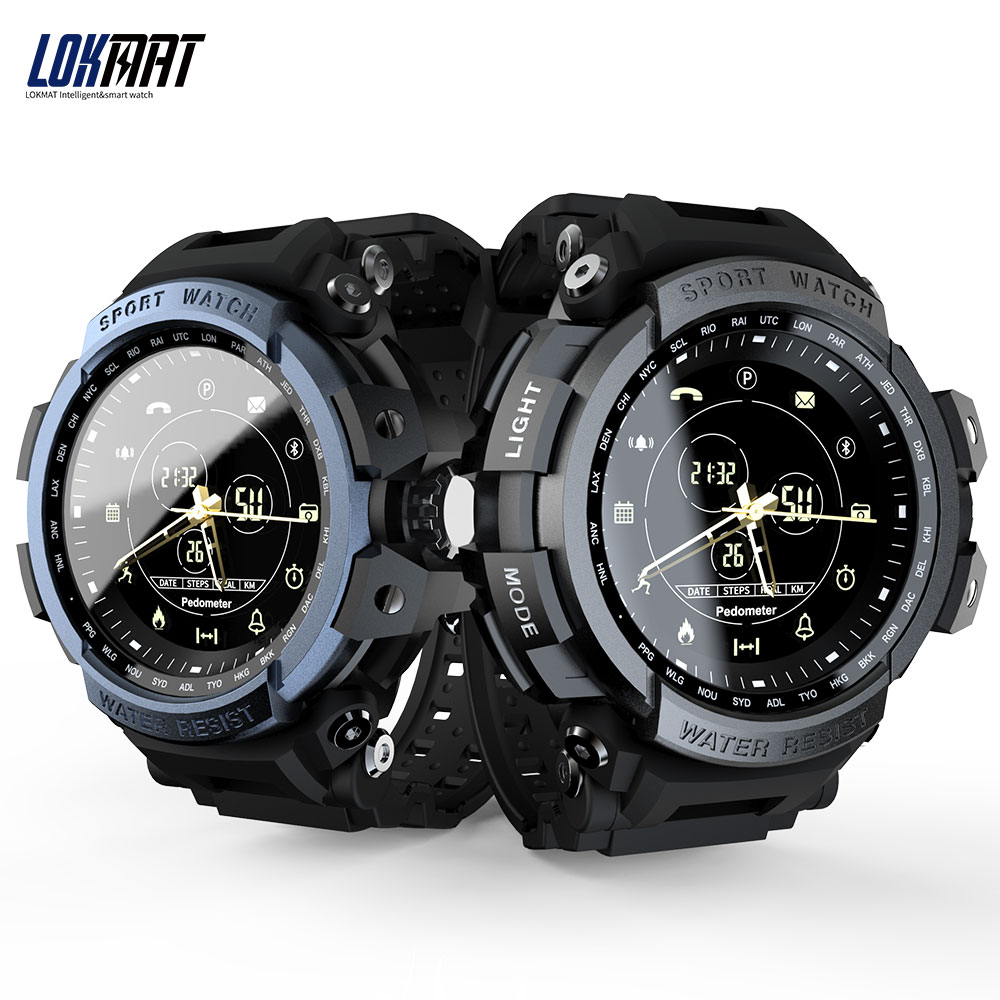 LOKMAT MK28 Professional Sports Smartwatch Bluetooth 4.0 Call Message Reminder Wristwatch 5ATM IP68 Waterproof smart watch