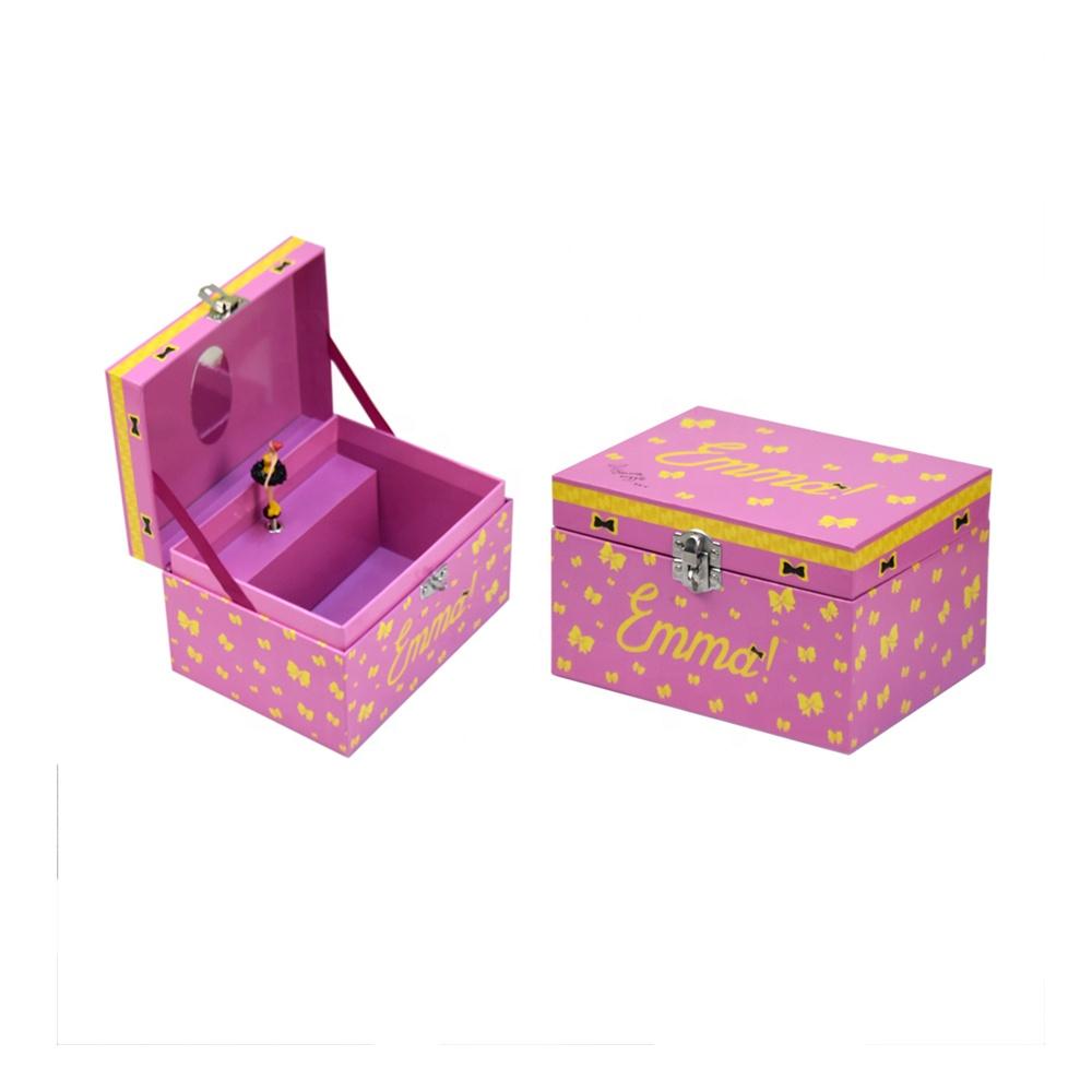 buy custom vintage dancing little pink handmade best nice classic  child's ballerina jewelry box