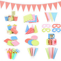 Party Sets for Festival Celebration, Customized Birthday party decoration, Raised Grain Paper Party Supplies as Kid's Gift