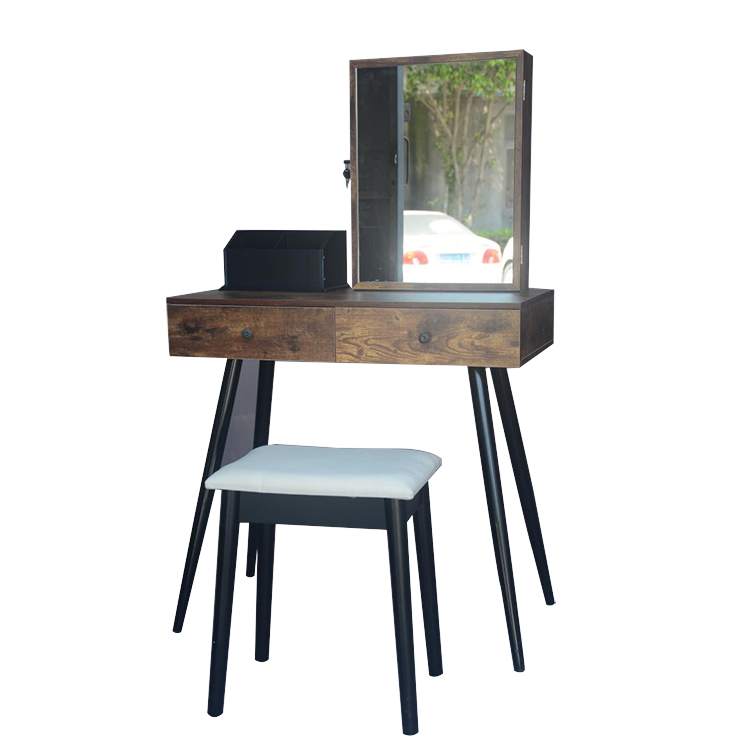 New Classic Dresser Cheap Wooden Mirror Dressing Table