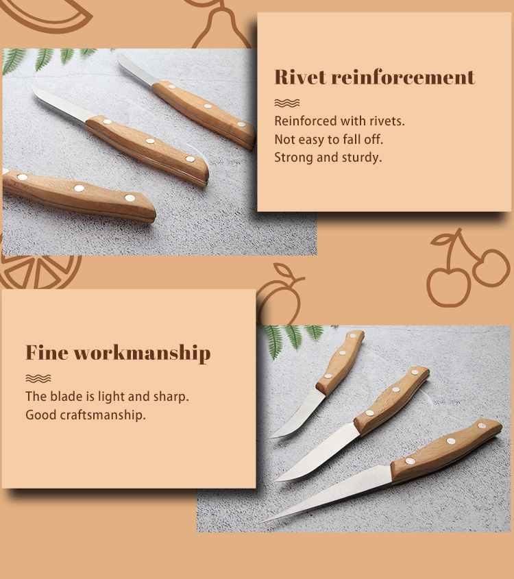 Professional Engraved Chef Knife Special Food Carving Pull Knife Set Engraved Survival Knife