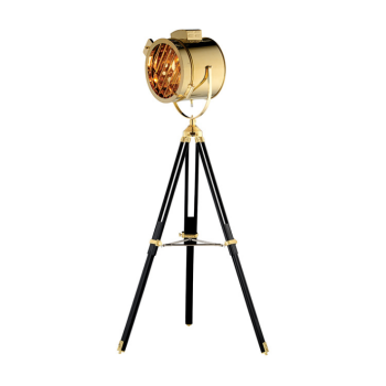 Nodic industrial Vintage Designer Stainless Steel metal stand copper Tripod Floor Lamp