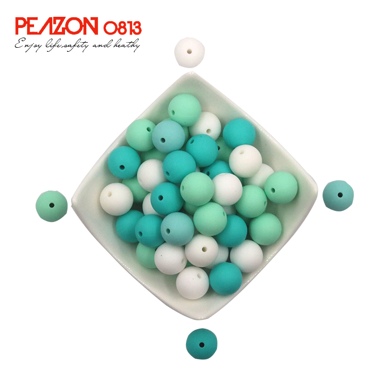 Factory Supplier Perline Food Grade Silicone Round Beads 15mm 12mm 10mm Bulk Wholesale