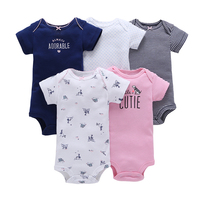 Lots of design 5 in 1 pack infant romper baby clothes baby body suit