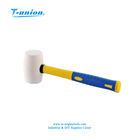Hand Tools White Plastic Wooden Plastic Steel Handle Mallet Hammer