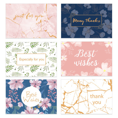 All Occasion Assorted Blank Note Cards Greeting thank you card bulk Set flower Designs