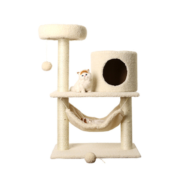 Wholesale Wooden Cat House Tree Pet Furniture Tower Climbing Condo Scratching Cat Tree Modern