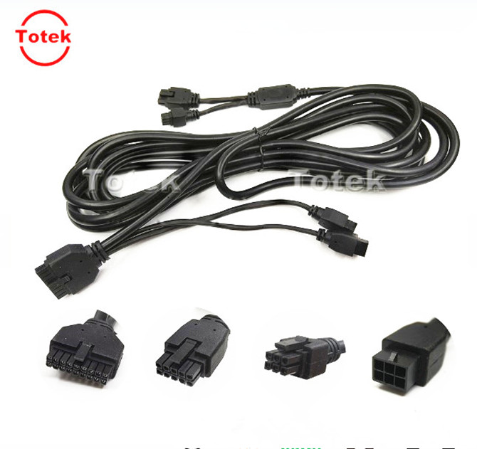 6Pins and 8Pins male overmolded micro-fit to 12Pins male micro-fit and M12 Cable assembly