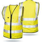 Wholesale reflecting cycling breathable customized high visibility warning class 2 safety vests With mult pockets