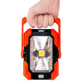 2020 New Portable Work Light Rechargeable LED Solar Charging Camping Light Flood Light