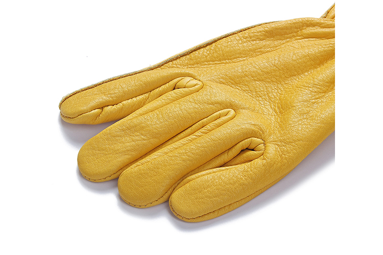 Factory direct sale comfortable AB grade pigskin leather yellow work driver glove