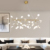 Construction post modern pendant lighting with warm colour LED light