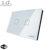 Waterproof Tempered Glass Panel 2 Gang Led Light 120 Home Automation Smart Touch Switch