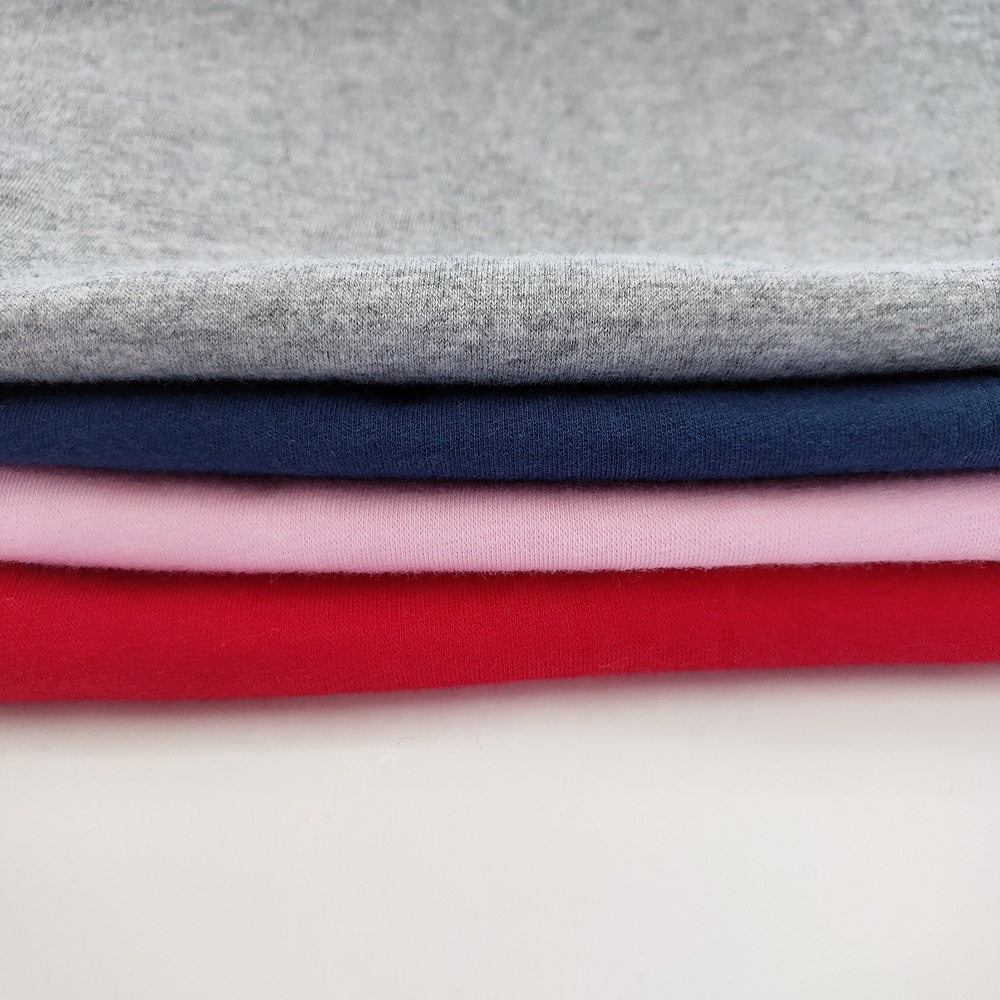 Bulk sale 95 Cotton 5 Spandex knitted single jersey fabrics for t-shirt with comfortable feeling and colorful colors