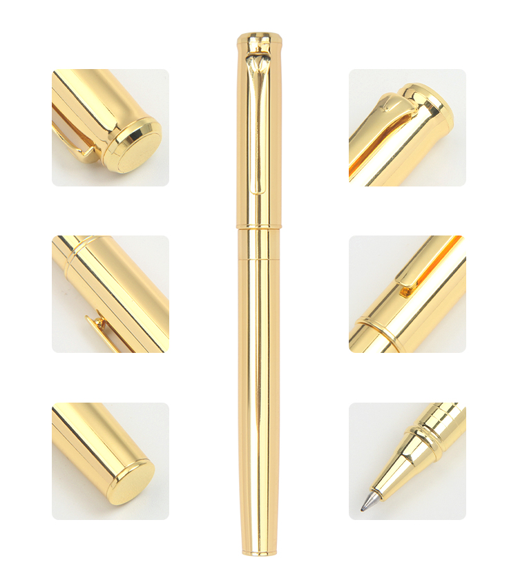 New products luxury rose gold metal roller pens with custom logo for business gift