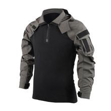 Тактическая рубашка BACRAFT, армейская форма, Уличное оборудование-SP2 версия, дымчато-Зеленый XS/S/M/L/XL/XXL(Китай)