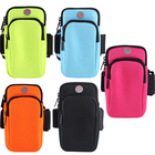 2020 Neoprene Multifunctional Zipper Pockets Running Sport Outdoor Gym Armband Bag For Mobile Phones Pouch