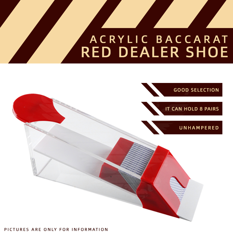 YH Factory Supply Transparent Acrylic Casino Card Poker Shoe For 8 Decks