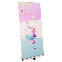100x120 strong material pull roll up banner display